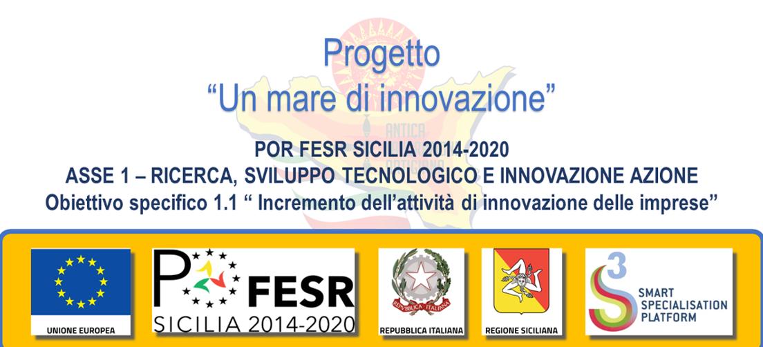 """POR FESR SICILIA 2014-2020 - progetto """"Un mare di innovazione"""""""