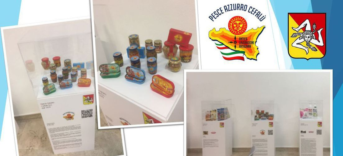 PESCE AZZURRO CEFALU' in the permanent exhibitions of the Sicilian Excellencies at the Regional Department of Productive Activities in Palermo.
