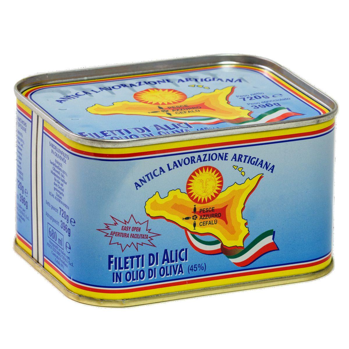 Filetes De Anchoa En Aceite De Oliva - Lata Pesce Azzurro